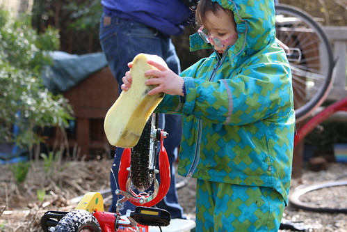 Toddler bicycle maintenance