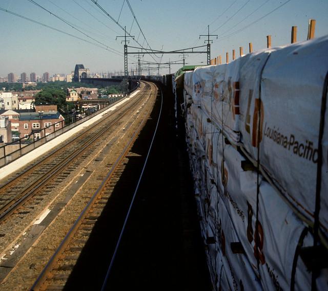 Freight Train on Hell Gate Bridge 4