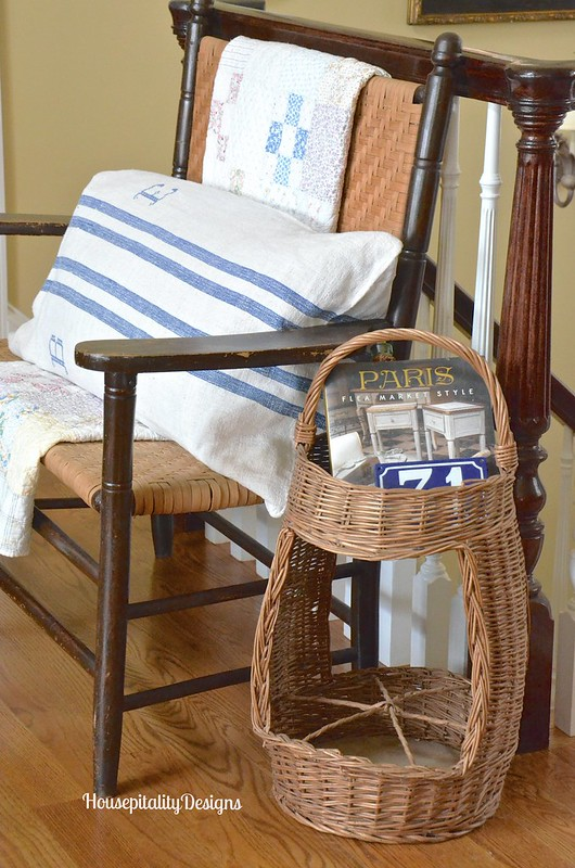 Vintage Bench/French Wine Basket - Housepitality Designs