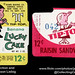 Ward Baking Co - Tip Top - Banana Lucky Cake & Raisin Sandwich - 12-cent snack cake pack labels - late 1960's by JasonLiebig