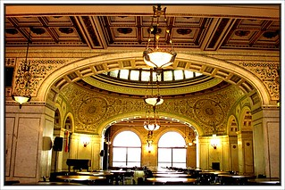 Chicago Old Public  Library ~ Chicago II ~ Arch ~ Carrara Marble & Mosaics ~ 1893