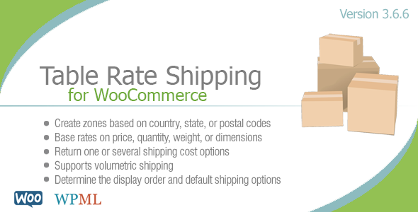 Table Rate Shipping for WooCommerce v3.6.6