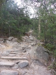 The steps, getting ready for the inca trail!