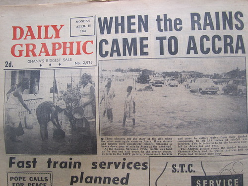when the rains came to accra april 18 1960