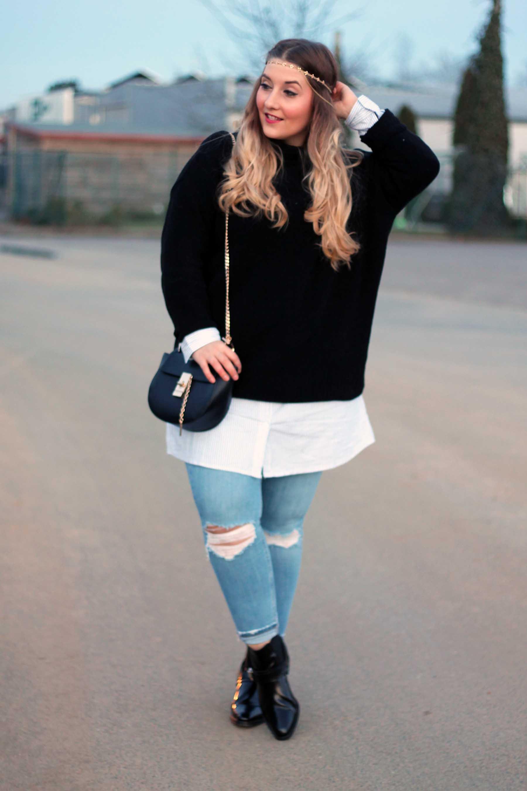 look-style-tasche-drew-lookalike-schwarzer-pullover-hemdkleid