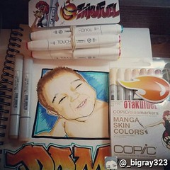 You got the TOUCH? Featured ShinHan Markers artist: @_bigray323 . Tag #fuelforyourpassion for a chance to be featured! :mega: Looking for an alternative to #copicmarkers ? . We ship to the USA and Canada only. All USA orders over $25 qualify for free ship