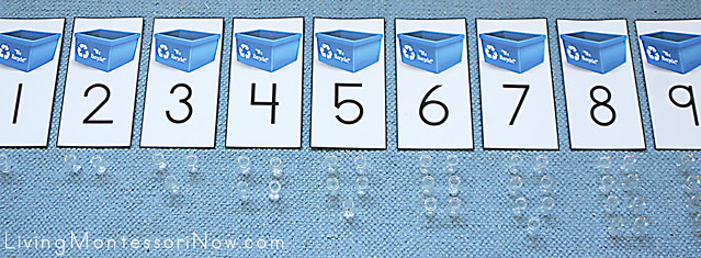 Recycling Numbers and Counters Layout