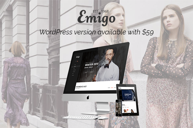 Emigo Fashion WooCommerce WordPress theme