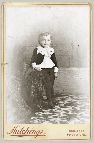 Small boy cabinet card