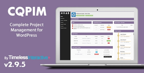 CQPIM v3.1 – WordPress Project Management Plugin