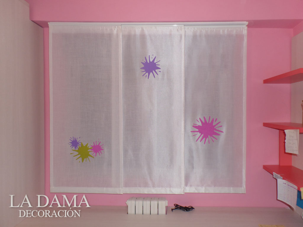 Fotograf as de paneles japoneses la dama decoraci n - Paneles japoneses cortos ...