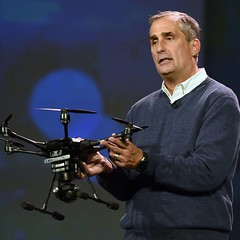 ":bulb: Intel's CEO Brian Krzanich named Yuneec Typhoon H Drone, ""the first truly intelligent consumer drone"". :bulb: armed w Intel's RealSense technology module :bulb:It can sense and avoid obstacles to prevent collision :bulb: six rotors and a 360-degree"