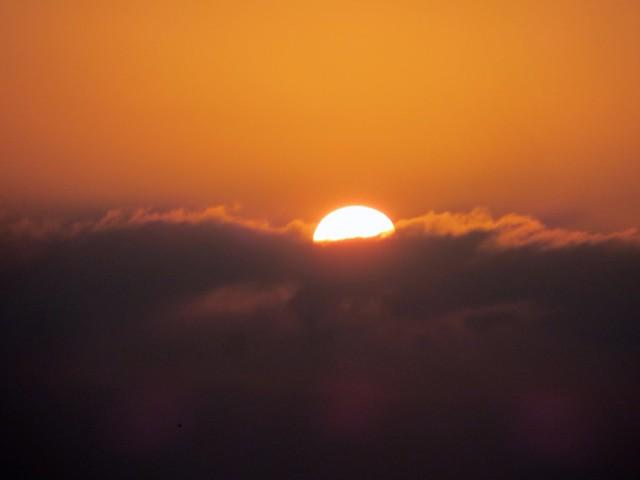 fog bank sunrise