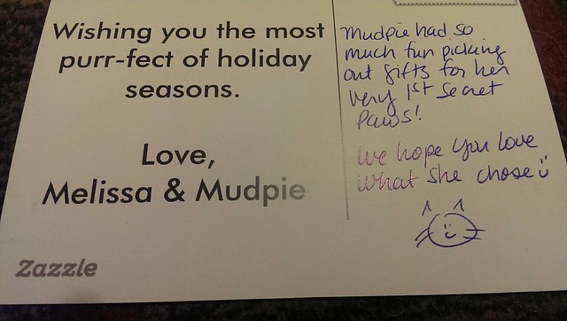 Thanks Melissa and Mudpie!