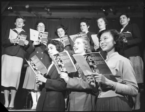 Carleton College Carol Singers, 1955