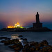 Sunrise on the Southern tip of India where the seas meet by Stuck in Customs