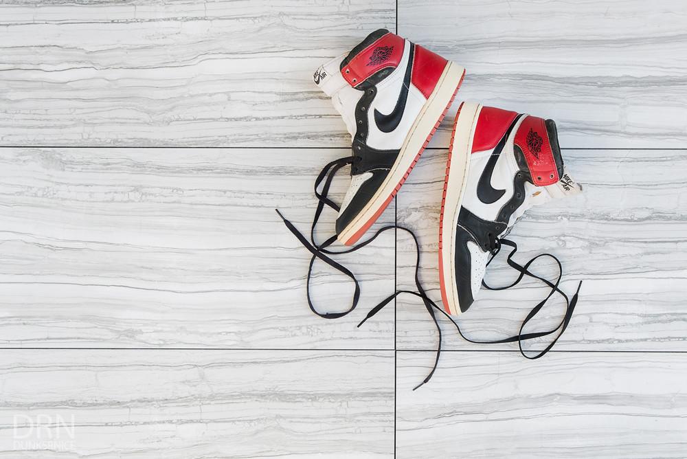 1985 Black Toe Jordan I's.