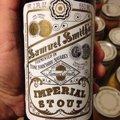 Beersperiment:Samuel Smith\'s Imperial Stout (North Yorks, England) @halyma: 3* me: *4