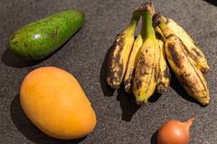 Avocado Lula, Mango Edward, Banane Apfel-Feige