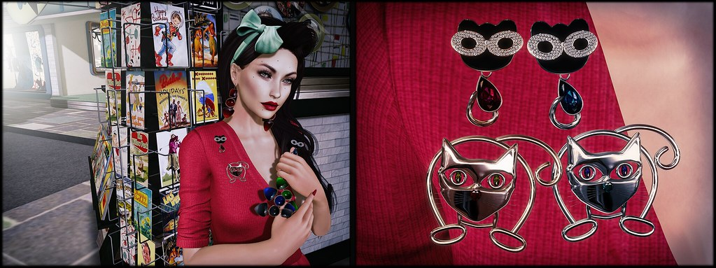 Earrings and brooches by ChicChica OUT @ Tres Chic  50s