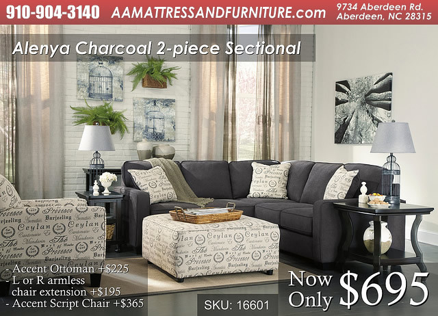 Alenya Charcoal 2 Piece Sectional WM