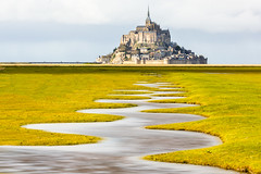 Meander of the Mont Saint-Michel at Spring Tide