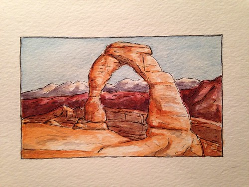 Arches National Park - sketched for my wife's aunt and uncle.