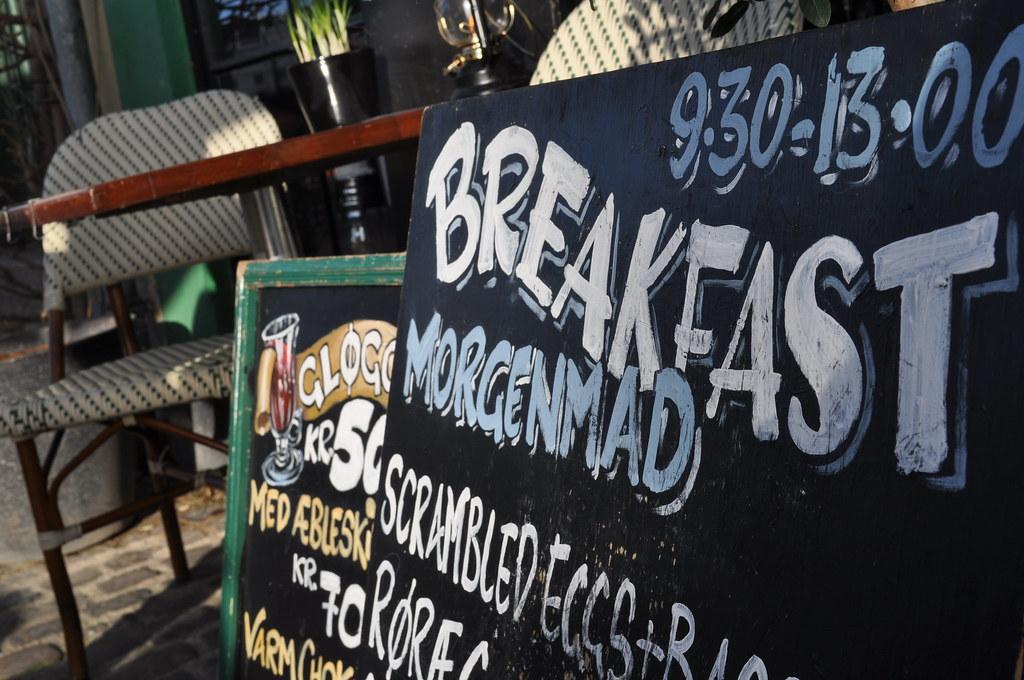 Copenhagen Breakfast Streetsign