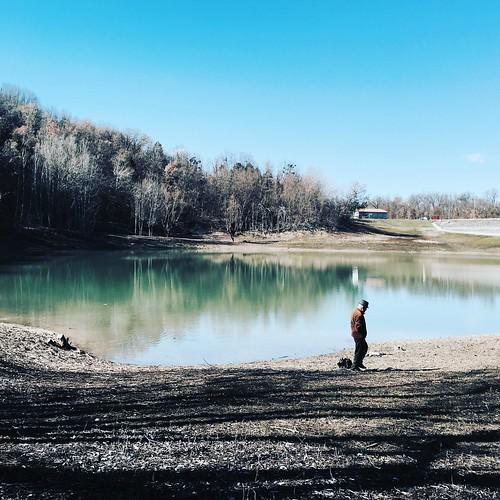 Lake and human