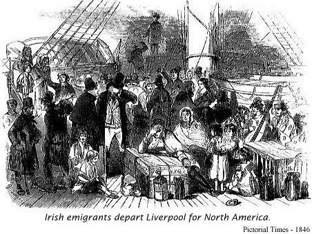 Irish Emigrants Depart Liverpool for North America