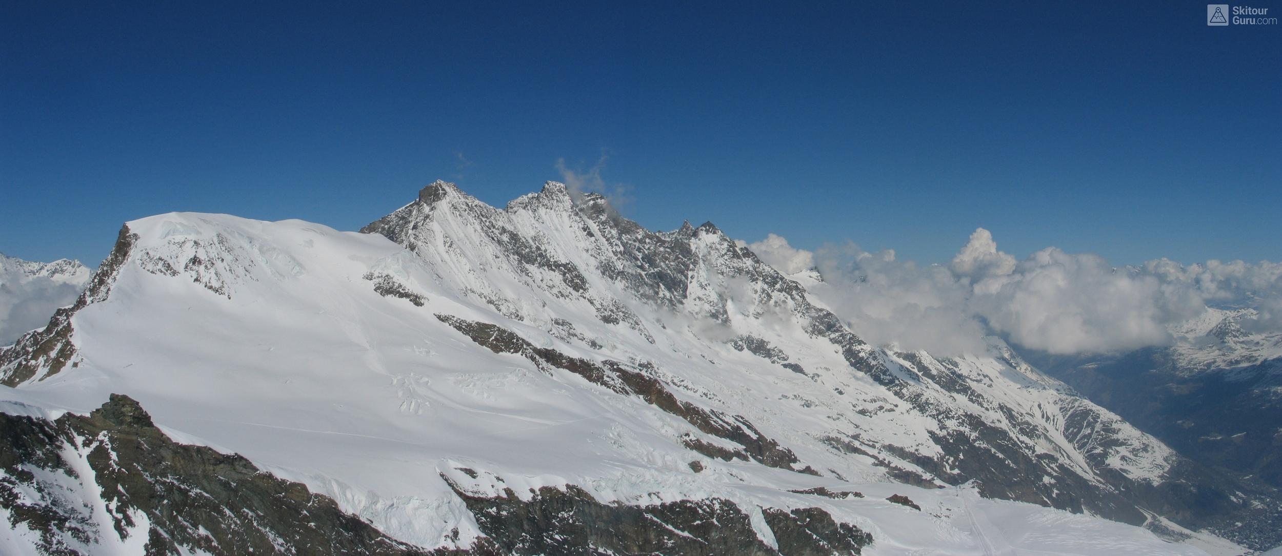 Allalinhorn Walliser Alpen / Alpes valaisannes Švýcarsko panorama 20