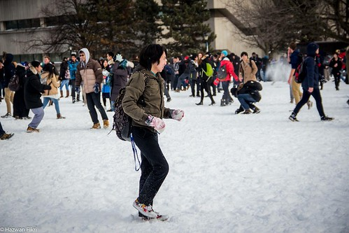 Tri-campus snowball fight, University of Toronto