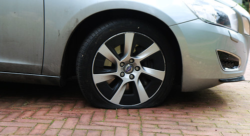 Flat tire for