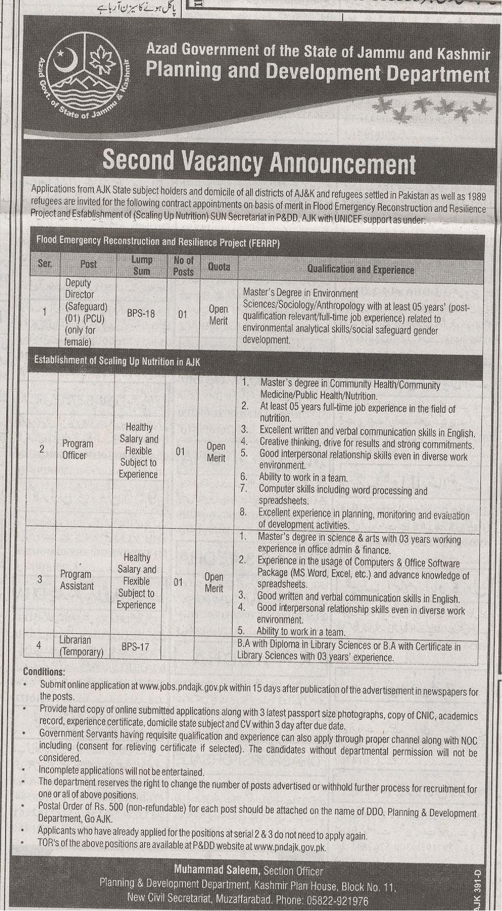 Planning and Development Jobs 2016