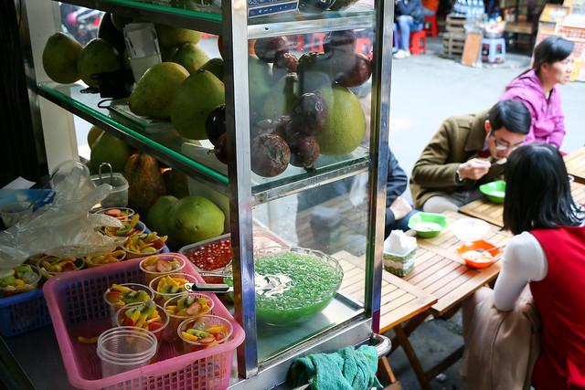 Vietnamese sweets shop, Hanoi, Vietnam ハノイ、ベトナムスイーツ店にて