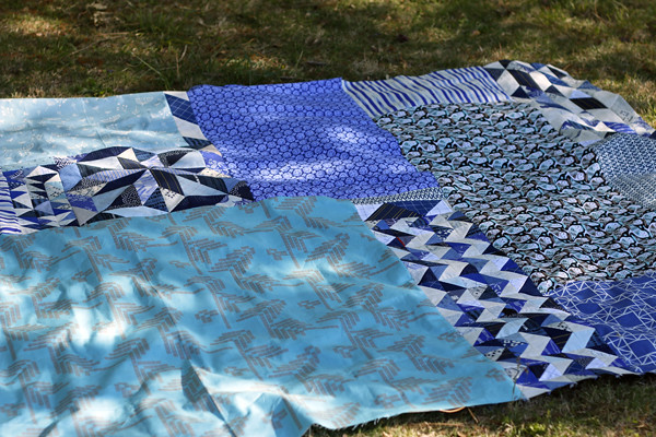 scrapping together a quilt back
