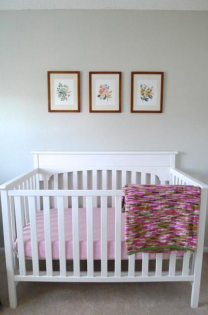 Crib and Blanket