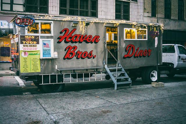 Haven Bros Diner in Providence, Rhode Island.