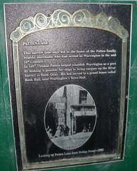Photo of Thomas Patten and Thomas Patten black plaque