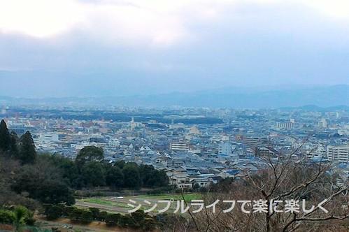 修学院離宮、上離宮・京都市街景色