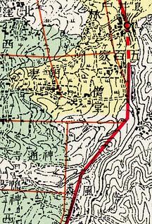 葛城の道 南郷遺跡群手前 『地図でみる西日本の古代』