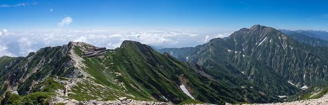 五竜岳と唐松岳頂上山荘@唐松岳