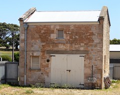 Robe. First settled town of  the South East. The old Police Stables behind the Police Station. Built 1848.