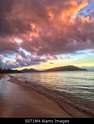 sunset beach fiji sunrise island islands long pacific south tropical nacula yasawa stockimo
