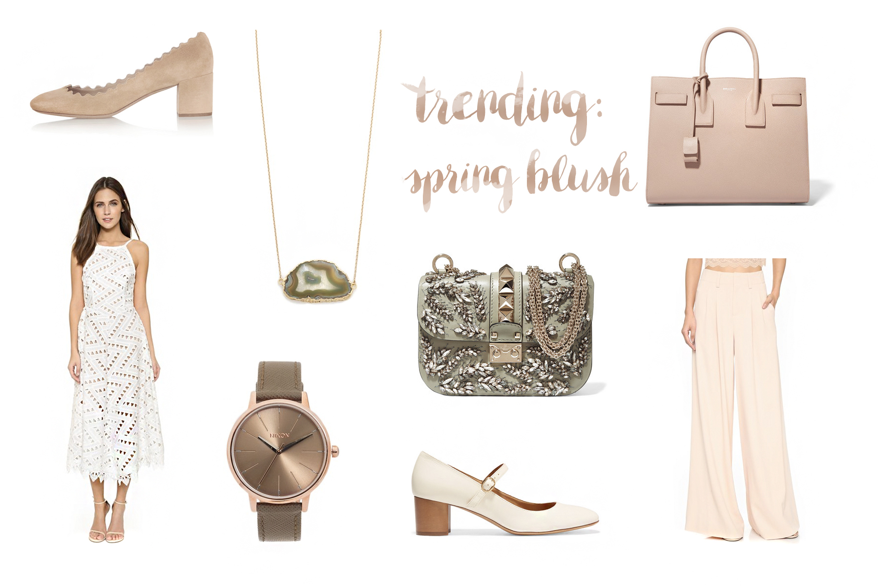 inspiration spring blush light color trends shopping valentino saint laurent luxury fashion shopbop shopping online nixon chloe isabel marant boutique style look girl elegant chic fashionblogger germanblogger cats & dogs blog ricarda schernus düsseldorf