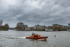 RNLI Boat on the Thames near Kew