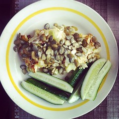 Another healthy lunch: #zucchini with #pumpkinseed…