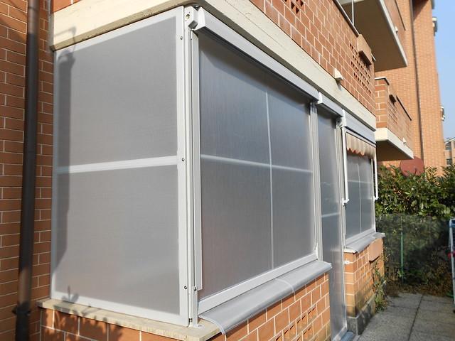 Tenda veranda con tessuto pvc vinitex impermeabile