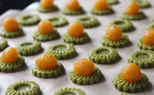 Matcha pineapple tarts