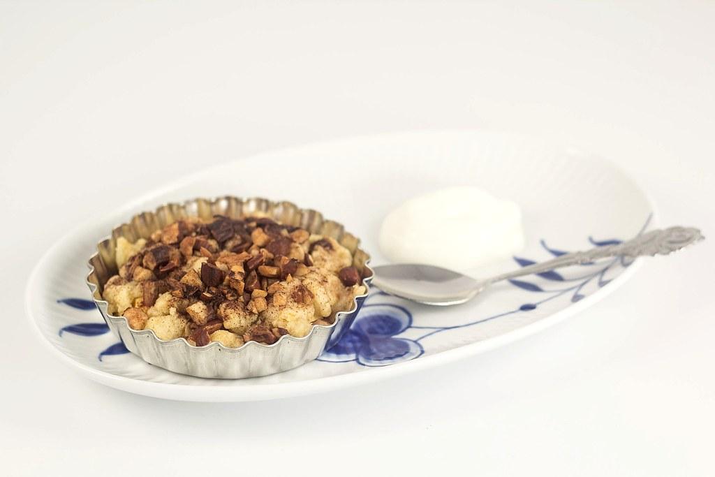 Mini æbletærte med crumble